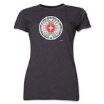 1954 FIFA World Cup Switzerland Women's Historical Emblem T-Shirt (Dark Grey)
