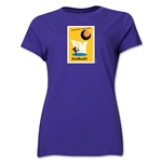 1958 FIFA World Cup Sweden Women's Historical Emblem T-Shirt (Purple)