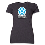 1970 FIFA World Cup Mexico Women's Historical Emblem T-Shirt (Dark Grey)
