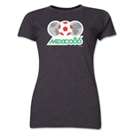 1986 FIFA World Cup Mexico Women's Historical Emblem T-Shirt (Dark Grey)