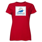 1998 FIFA World Cup France Women's Historical Emblem T-Shirt (Red)
