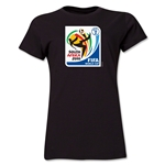 2010 FIFA World Cup South Africa Women's Historical Emblem T-Shirt (Black)