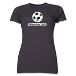 1990 FIFA World Cup Italy Women's Historical Emblem T-Shirt (Dark Grey)