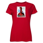1938 FIFA World Cup France Women's Historical Emblem T-Shirt (Red)