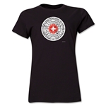 1954 FIFA World Cup Switzerland Women's Historical Emblem T-Shirt (Black)