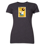 1958 FIFA World Cup Sweden Women's Historical Emblem T-Shirt (Dark Grey)