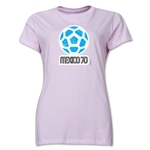 1970 FIFA World Cup Mexico Women's Historical Emblem T-Shirt (Pink)