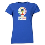 2002 FIFA World Cup Korea Japan Women's Historical Emblem T-Shirt (Royal)