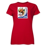 2010 FIFA World Cup South Africa Women's Historical Emblem T-Shirt (Red)