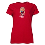 1966 FIFA World Cup Willy Women's Mascot Logo T-Shirt (Red)