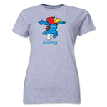 1998 FIFA World Cup Footix Women's Mascot Logo T-Shirt (Grey)