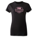 Fox Soccer Distressed Pink Logo Women's T-Shirt (Black)