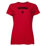 Ghana FIFA U-17 Women's World Cup Costa Rica 2014 Women's Core T-Shirt (Red)