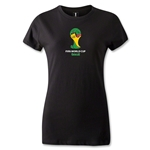 2014 FIFA World Cup Brazil(TM) Emblem Women's T-Shirt (Black)