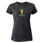 2014 FIFA World Cup Brazil(TM) Emblem Women's T-Shirt (Dark Gray)