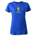 2014 FIFA World Cup Brazil(TM) Emblem Women's T-Shirt (Royal)