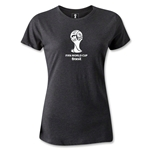 2014 FIFA World Cup Brazil(TM) Women's Emblem T-Shirt (Dark Gray)