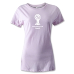 2014 FIFA World Cup Brazil(TM) Women's Emblem T-Shirt (Pink)