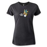 2014 FIFA World Cup Brazil(TM) Women's Mascot T-Shirt (Dark Gray)