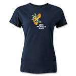 2014 FIFA World Cup Brazil(TM) Women's Mascot T-Shirt (Navy)