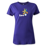 2014 FIFA World Cup Brazil(TM) Women's Mascot T-Shirt (Purple)