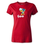 2014 FIFA World Cup Brazil(TM) Women's Mascot T-Shirt (Red)