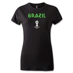 Brazil 2014 FIFA World Cup Brazil(TM) Women's Core T-Shirt (Black)