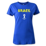 Brazil 2014 FIFA World Cup Brazil(TM) Women's Core T-Shirt (Royal)