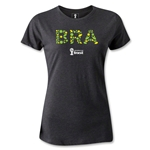Brazil 2014 FIFA World Cup Brazil(TM) Women's Core T-Shirt (Dark Gray)