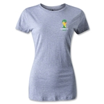 2014 FIFA World Cup Brazil(TM) Women's Emblem T-Shirt (Grey)
