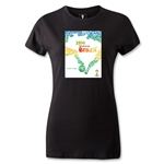 Official Event Poster 2014 FIFA World Cup Brazil(TM) Women's Premium T-Shirt (Black)