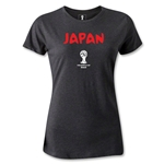 2014 FIFA World Cup Brazil(TM) Japan Core Women's T-Shirt (Dark Gray)