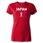 2014 FIFA World Cup Brazil(TM) Japan Core Women's T-Shirt (Red)