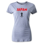 2014 FIFA World Cup Brazil(TM) Japan Core Women's T-Shirt (Gray)