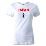 Japan 2014 FIFA World Cup Brazil(TM) Women's Core T-Shirt (White)