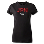 Japan 2014 FIFA World Cup Brazil(TM) Women's T-Shirt (Black)