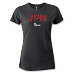 Japan 2014 FIFA World Cup Brazil(TM) Women's T-Shirt (Dark Gray)