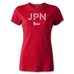 2014 FIFA World Cup Brazil(TM) Team Japan Women's T-Shirt (Red)