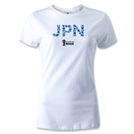 Japan 2014 FIFA World Cup Brazil(TM) Women's T-Shirt (White)