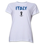 Italy 2014 FIFA World Cup Brazil(TM) Women's Core T-Shirt (White)