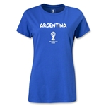 Argentina 2014 FIFA World Cup Brazil(TM) Women's Core T-Shirt (Royal)