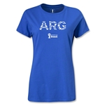 Argentina 2014 FIFA World Cup Brazil(TM) Women's Elements T-Shirt (Royal)