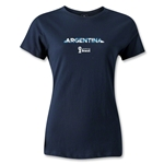 Argentina 2014 FIFA World Cup Brazil(TM) Women's Palm T-Shirt (Navy)