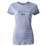 Argentina 2014 FIFA World Cup Brazil(TM) Women's Palm T-Shirt (Grey)