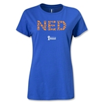 Netherlands 2014 FIFA World Cup Brazil(TM) Women's Elements T-Shirt (Royal)