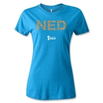 Netherlands 2014 FIFA World Cup Brazil(TM) Women's Elements T-Shirt (Turquoise)