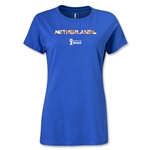 Netherlands 2014 FIFA World Cup Brazil(TM) Women's Palm T-Shirt (Royal)