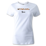 Netherlands 2014 FIFA World Cup Brazil(TM) Women's Palm T-Shirt (White)