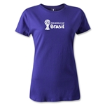 2014 FIFA World Cup Brazil(TM) Women's Landscape T-Shirt (Purple)
