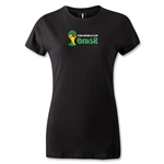 2014 FIFA World Cup Brazil(TM) Women's Landscape Emblem T-Shirt (Black)